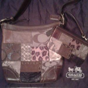 COACH Patchwork Crossbody Bucket Bag & Wristlet